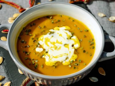 Homemade Pumpkin Soup Recipe   Herbal Academy   Healthy, vegetarian homemade pumpkin soup recipe created by the director at the Herbal Academy of New England, Marlene Adelmann.