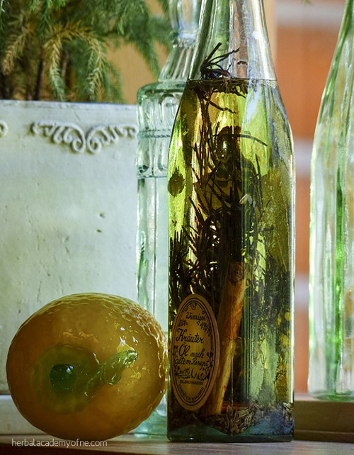 Making Herb Infused Oils