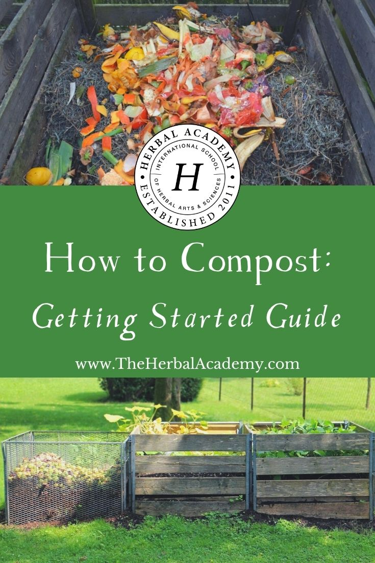How To Compost: Getting Started Guide | Herbal Academy | Learn the basics of how to compost and the impact you can make by starting your own composting routine this year!