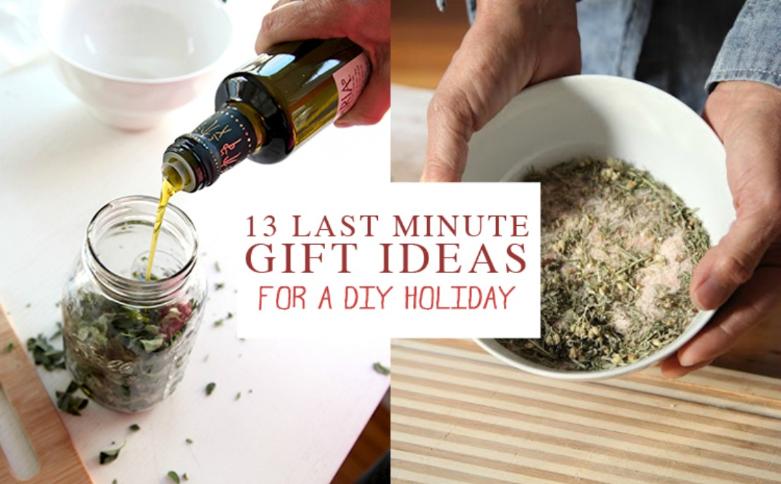 Last Minute Gift Ideas to Make at Home - Using Herbs!