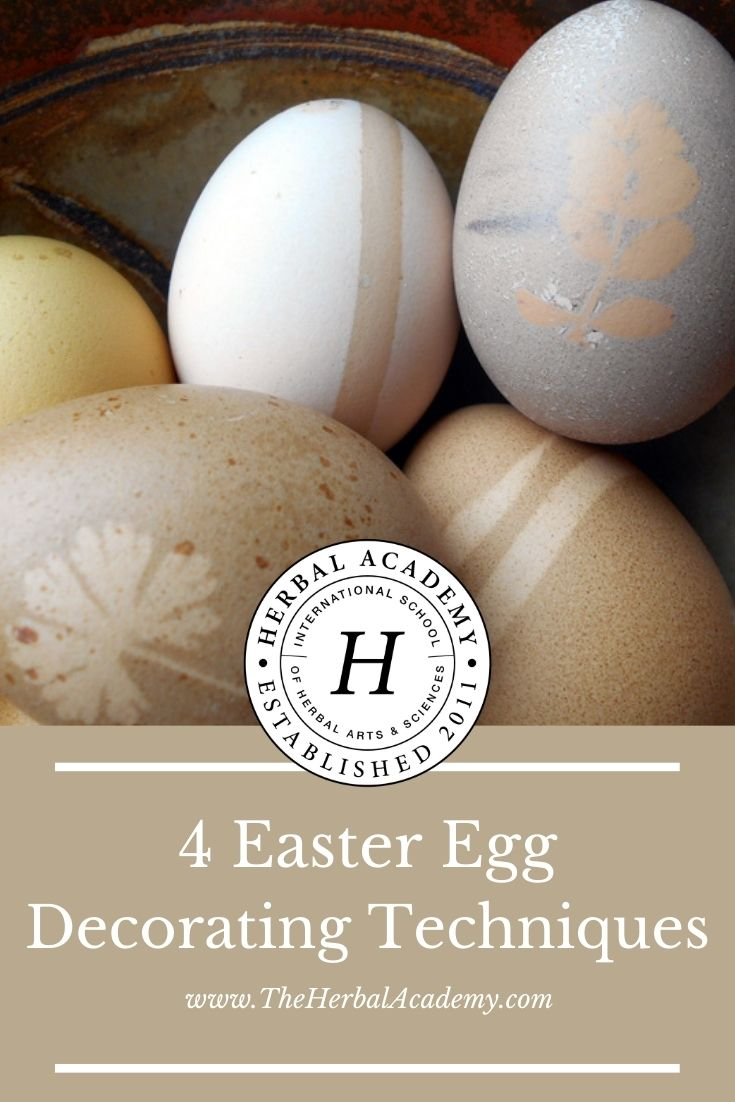 4 Easter Egg Decorating Techniques | Herbal Academy | From flower pressing to coloring with homemade dyes, these kid-friendly egg decorating techniques will bring your decor to the next level.