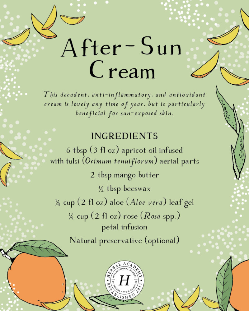Remedies For Sunburn and Summer Heat | Herbal Academy | Simple and easy remedies for sunburn and summer heat for the whole family. Many of these remedies are probably in your kitchen right now!