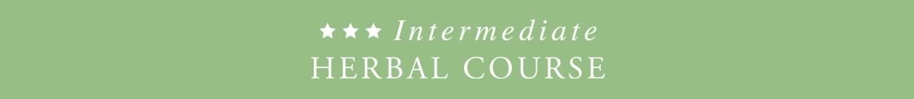 Intermediate Herbal Course -banner