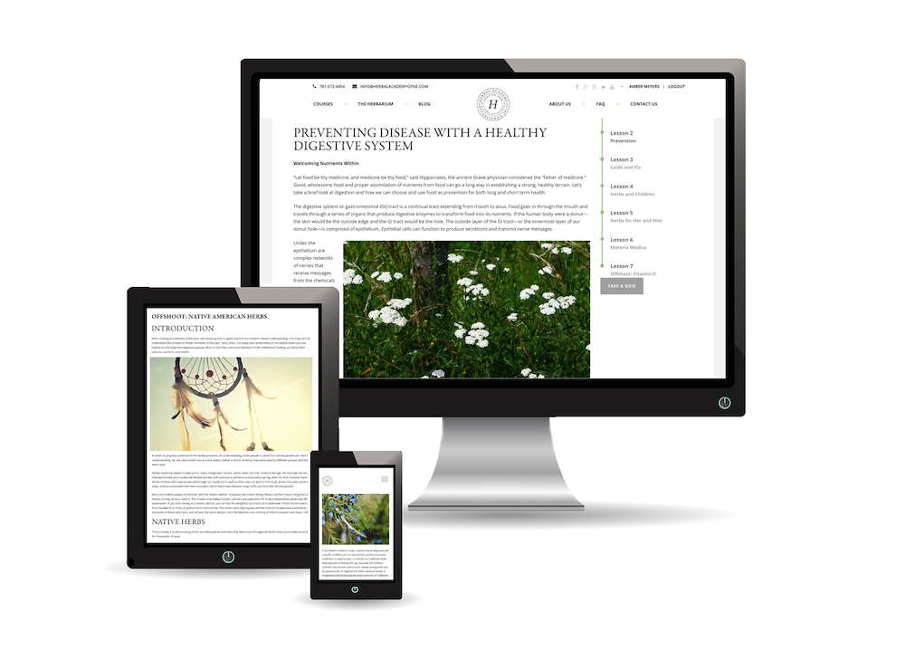 Herbal Academy Introductory Course - online and mobile friendly