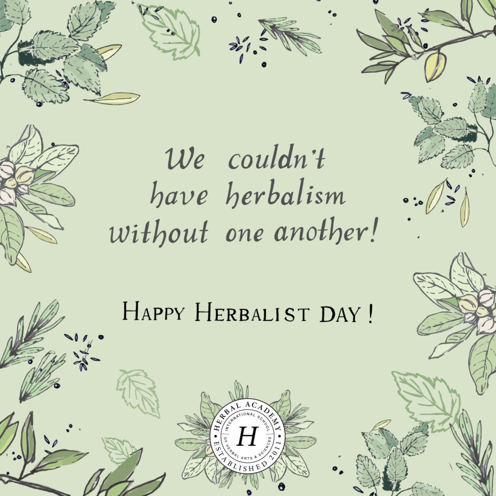 Celebrate Herbalist Day by Honoring Your Teachers – FREE card downloads! | Herbal Academy | Thank An Herbalist Day, coming up on April 17th, is the perfect opportunity to reach out to thank an herbalist who has assisted, taught, or inspired you in some way!
