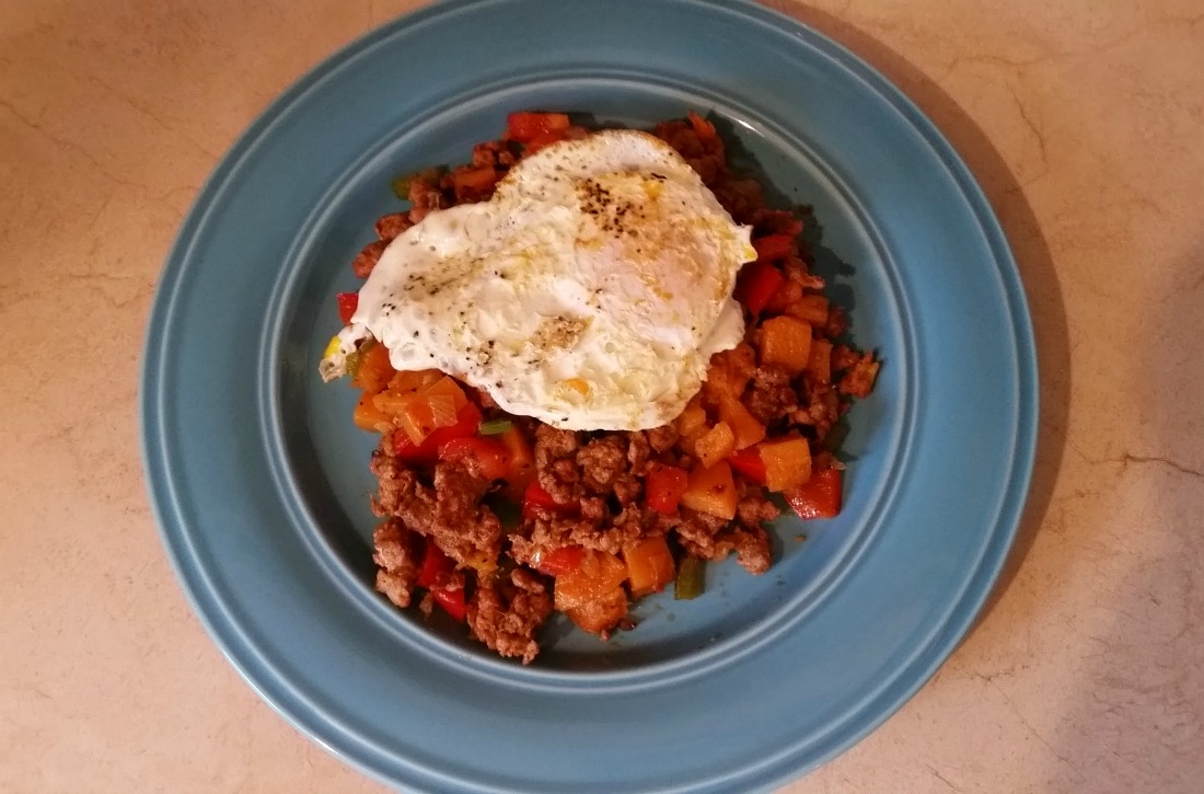 Spicy Chorizo And Sweet Potato Hash With Eggs | Herbal Academy | A healthy breakfast is important if you want to have energy and productivity for your day. Try this healthy, protein-packed recipe to start your day!