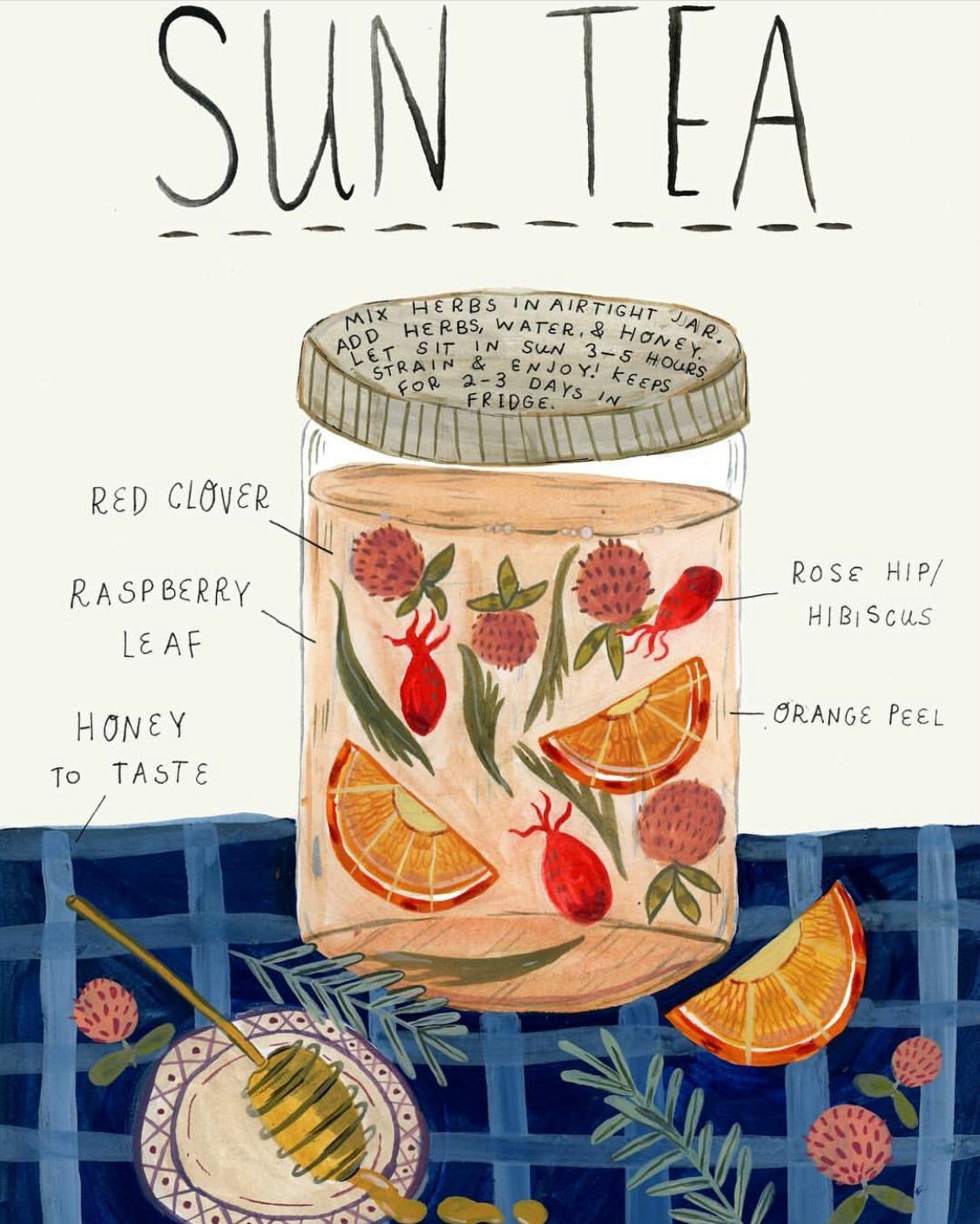 How To Make Fresh Herbal Sun Tea | Herbal Academy | What better way to become acquainted with herbs than by sipping fresh herbal sun teas? Here's how to make herbal sun teas using herbs growing all around you.