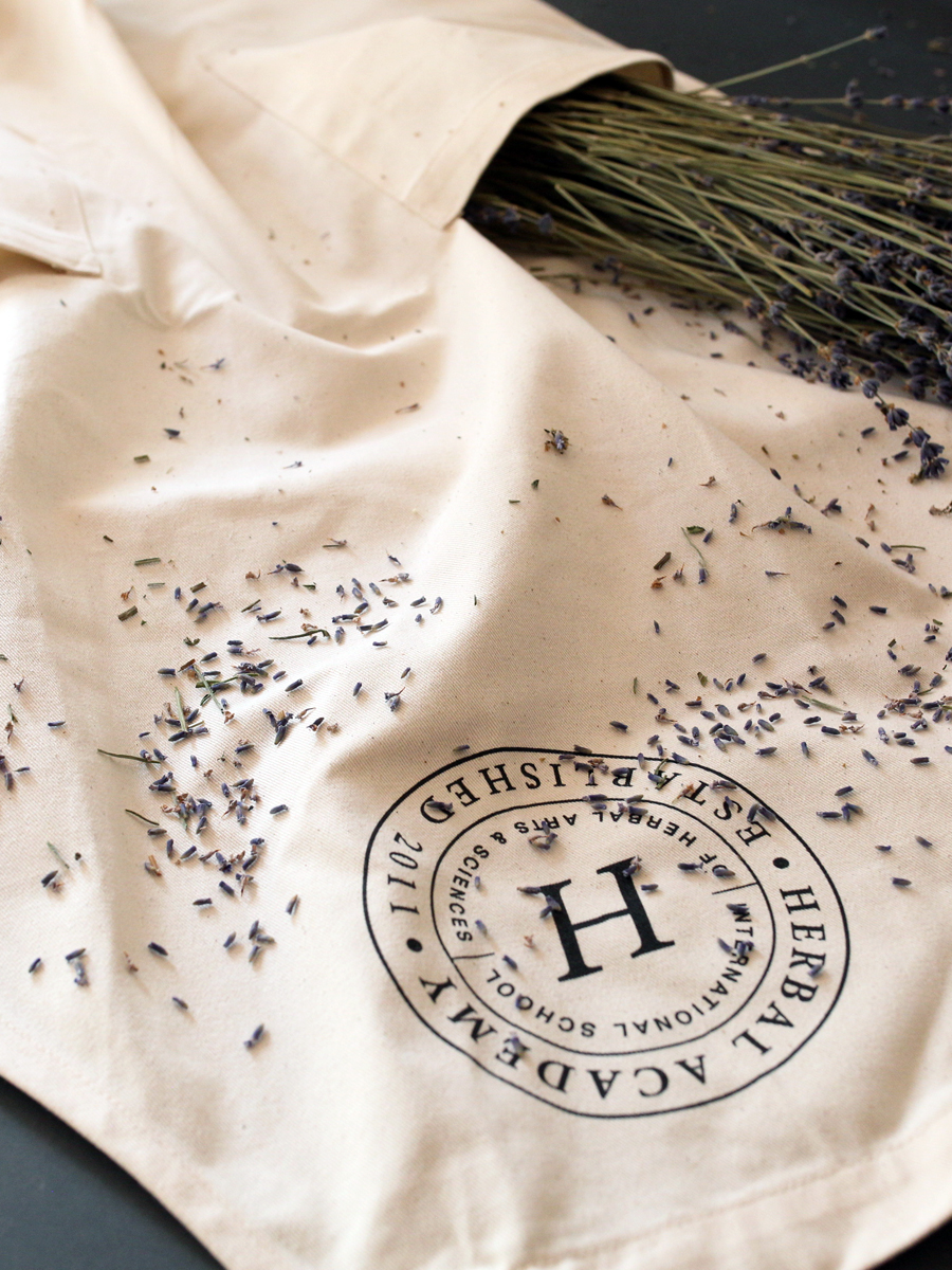 Herbal Academy Organic Apron for herbalists