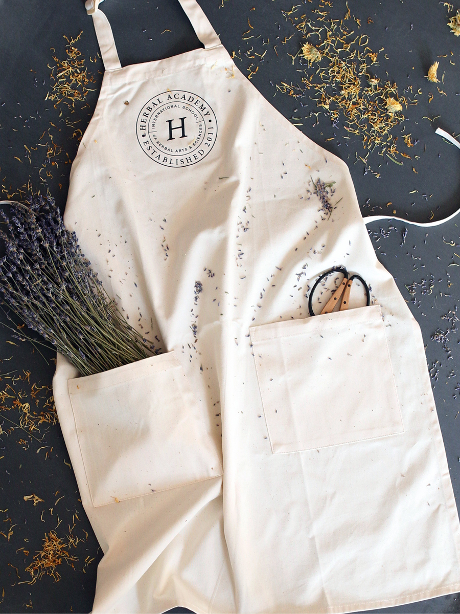 Beautiful Organic Apron made by Herbal Academy