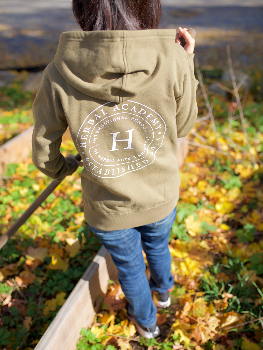 Women's Herbal Academy Crest Hoodie - all organic