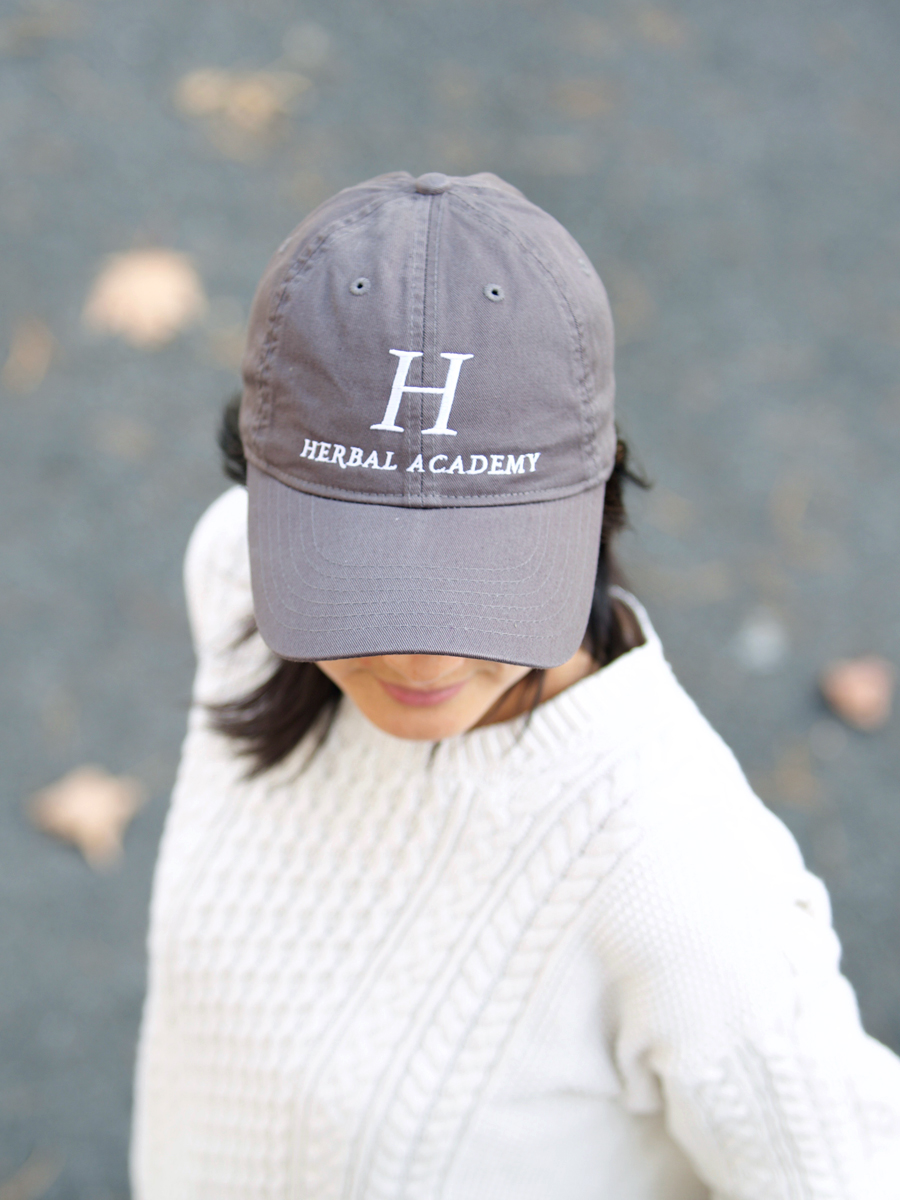 Herbal Academy Unisex Twill Cap with logo