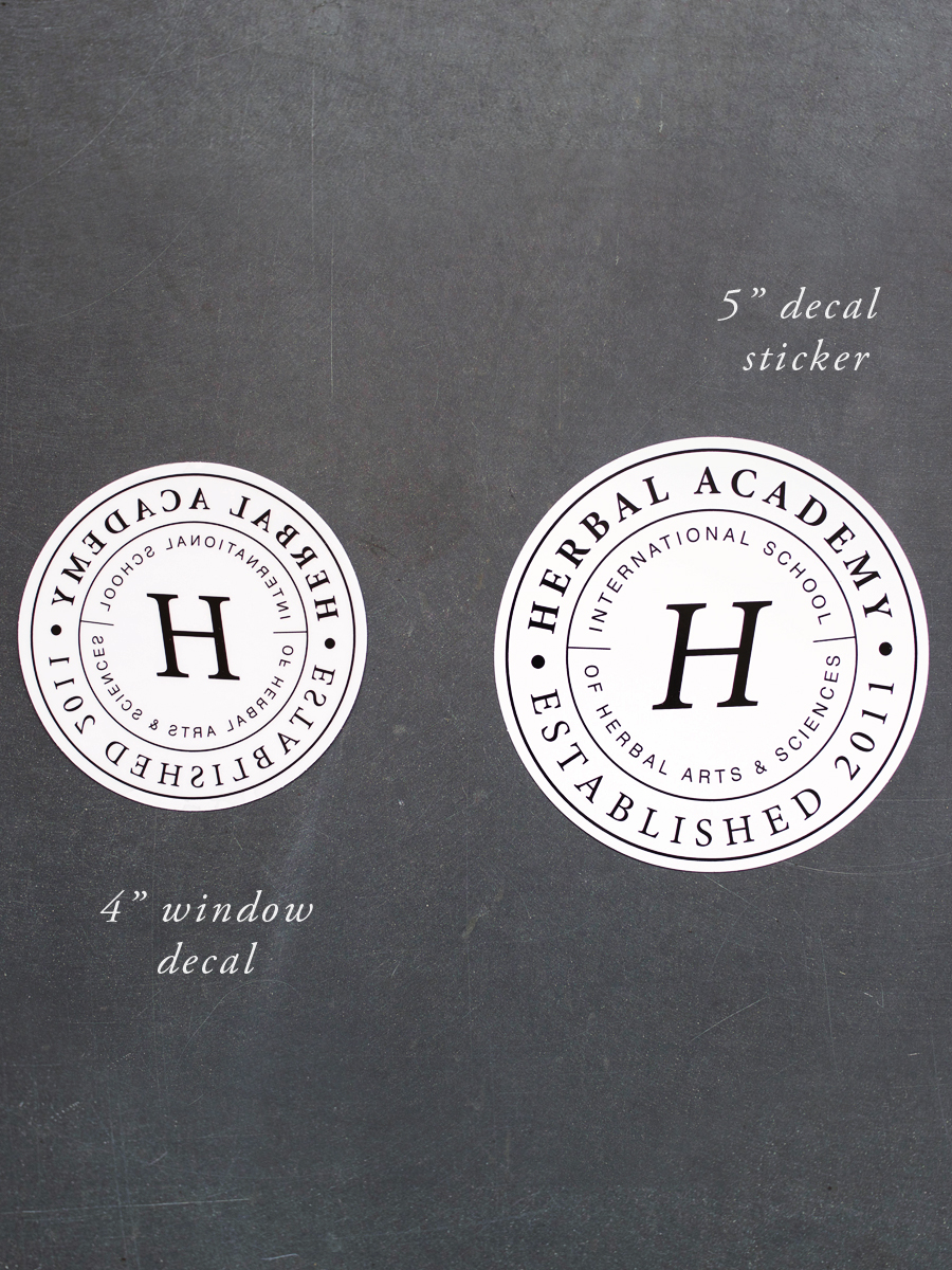 Herbal Academy window decal and sticker preview - 4 and 5 inch