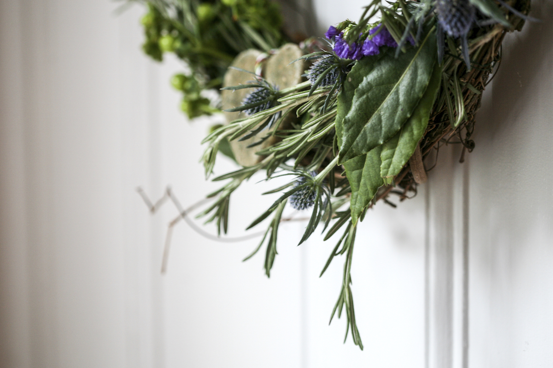 How to Make Your Own Fresh Rosemary Wreath   The Herbal Academy   Learn to make your own DIY fresh rosemary wreath for the holidays!