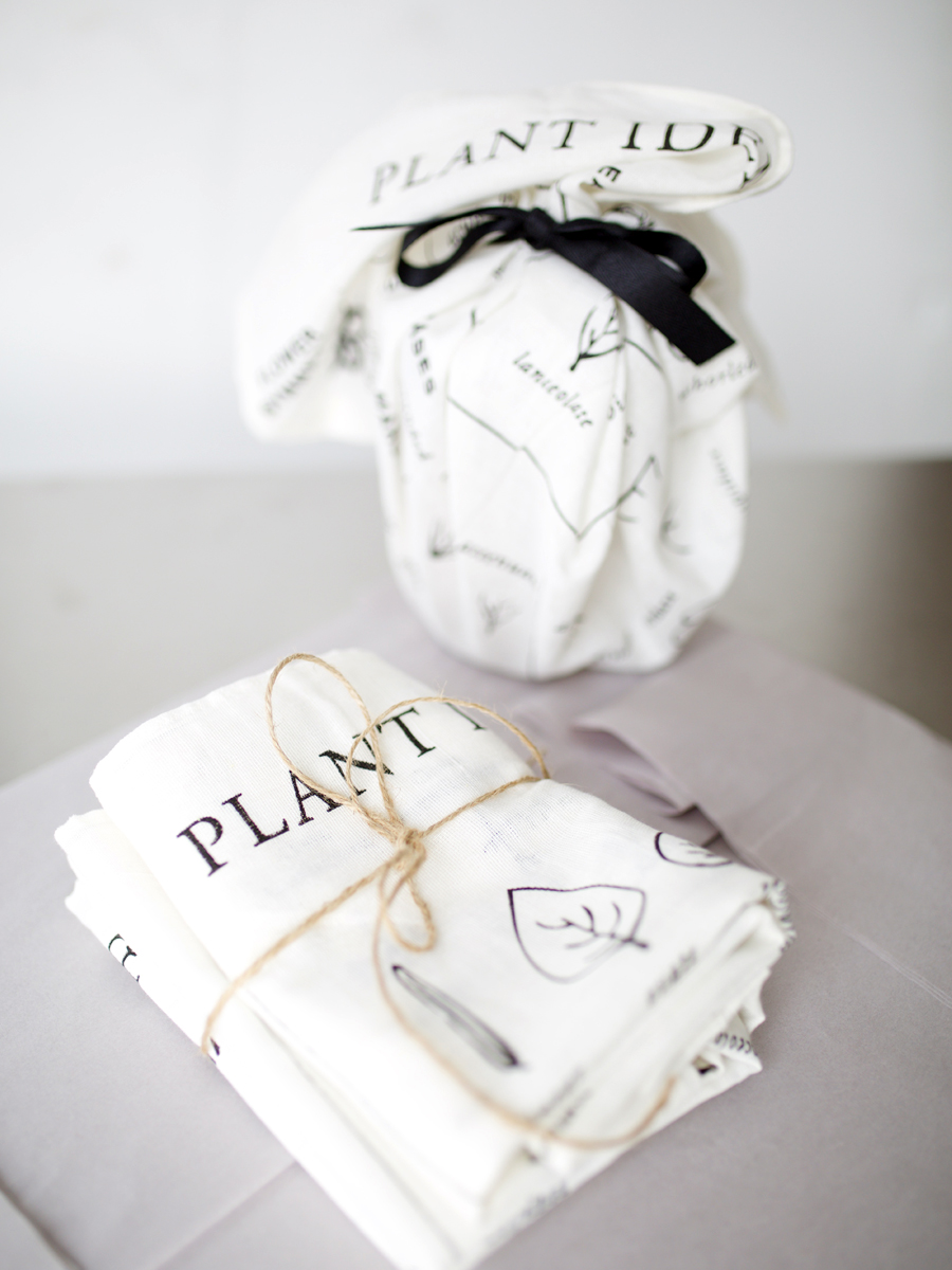 All Natural Organic Plant Identification Tea Towel by Herbal Academy