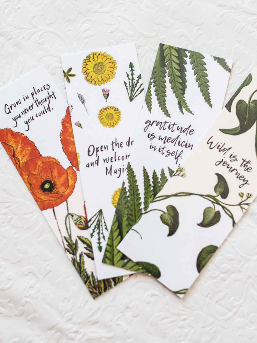 Beautiful Botanically Inspired Herbalist Bookmarks