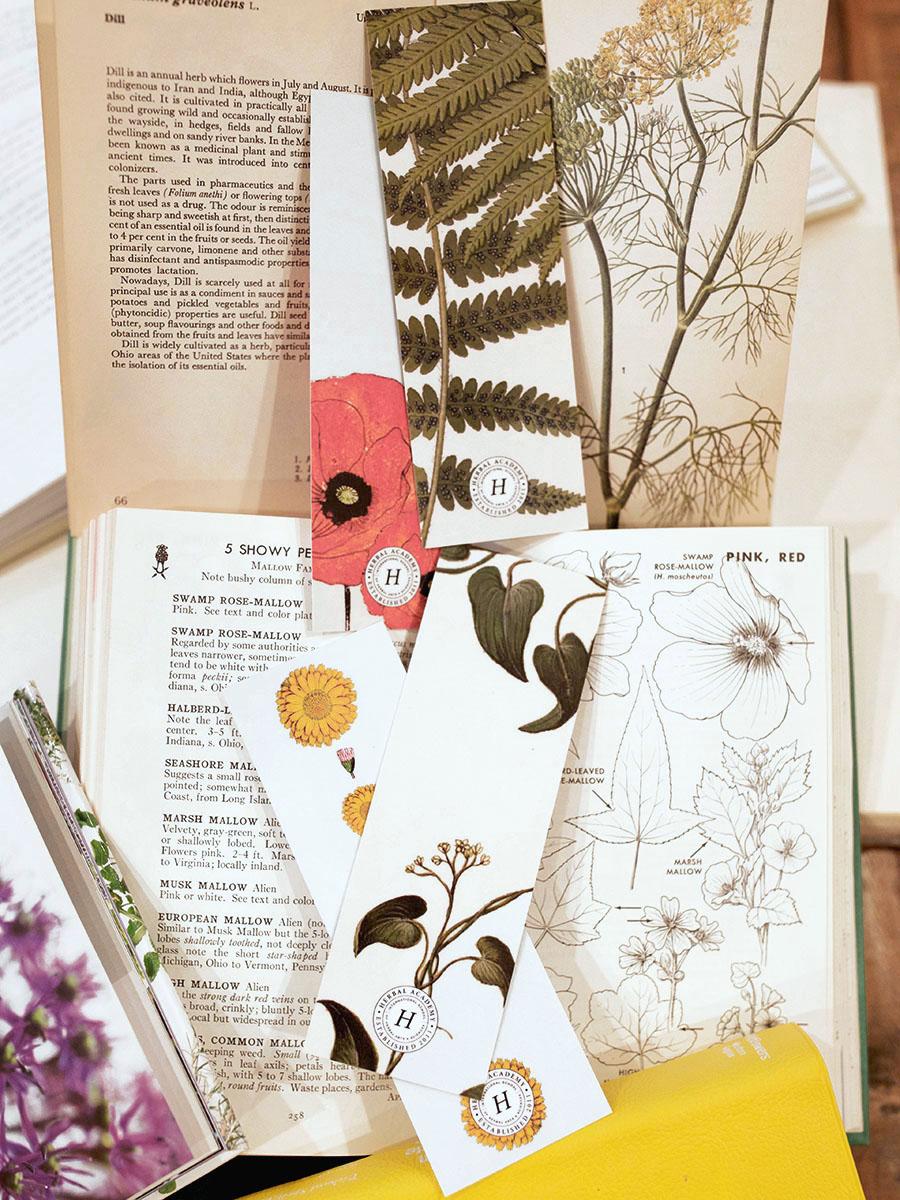Herbal Academy Herbalist Bookmarks set of 4