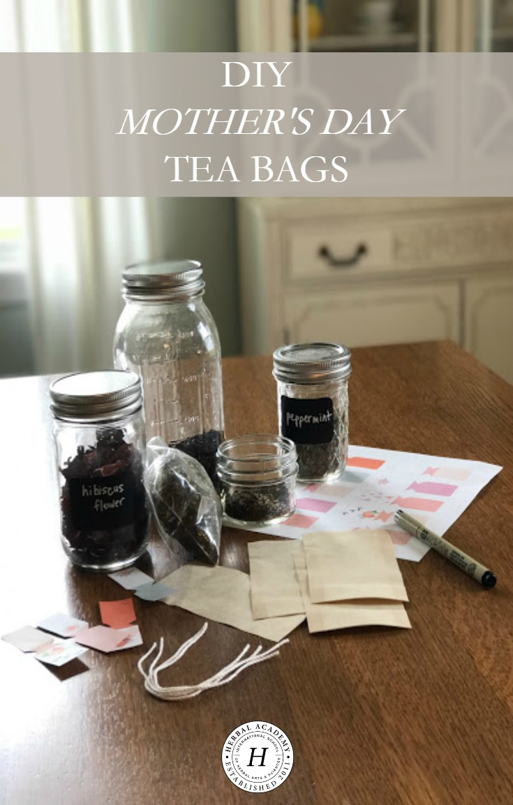 DIY Mother's Day Tea Bags | Herbal Academy | These DIY Mother's Day tea bags are perfect to show mom some love and appreciation.