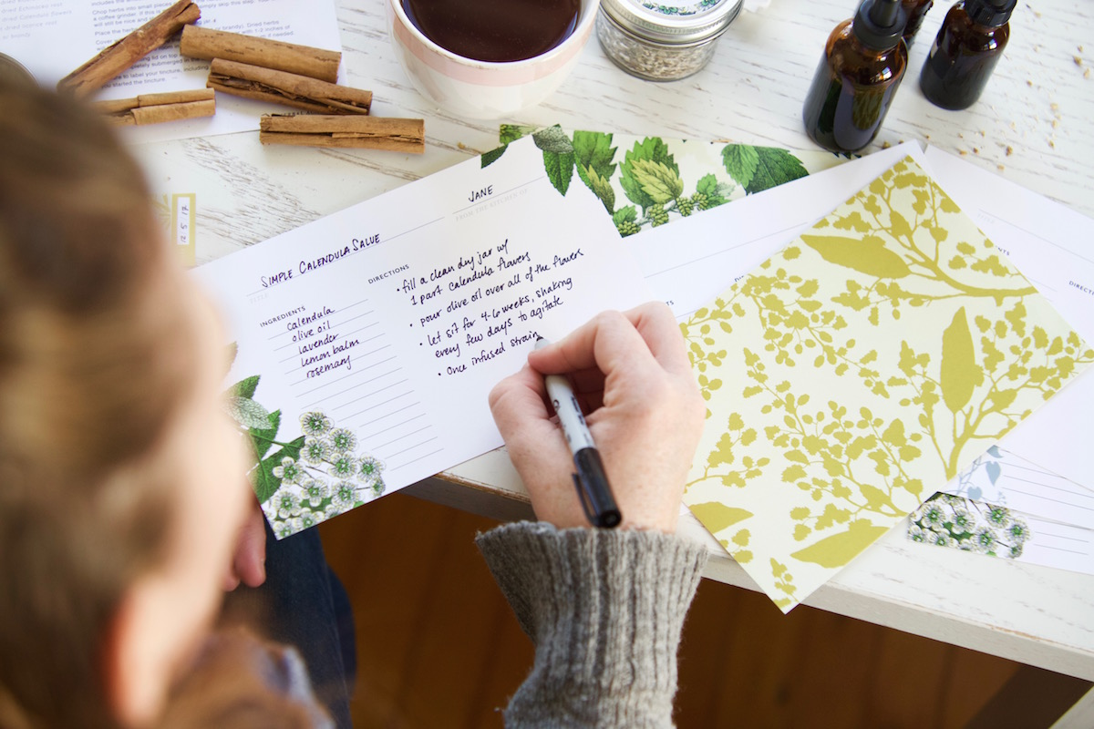 Botanical Recipe Cards for Herbalists