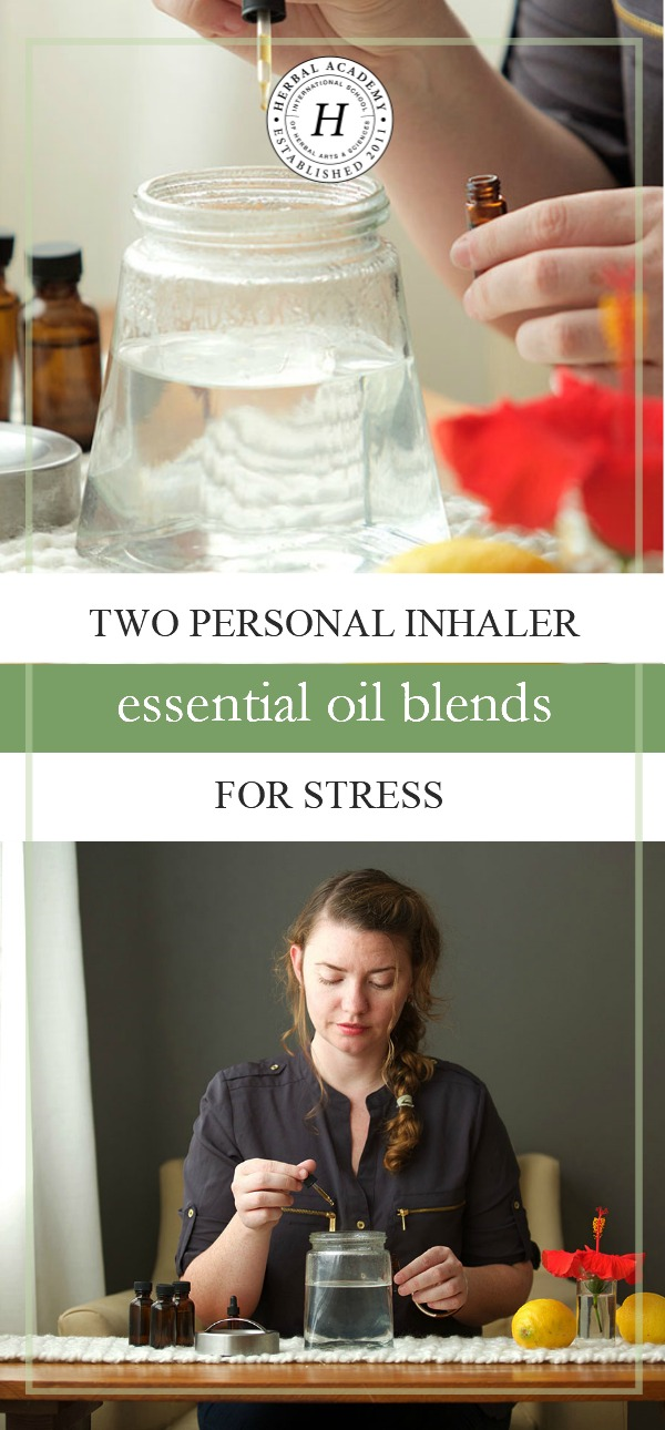 Two Personal Inhaler Essential Oil Blends To Help You Through Stressful Times | Herbal Academy | Is stress weighing you down? Find a healthy way to manage it with these two personal inhaler essential oil blends for stress!