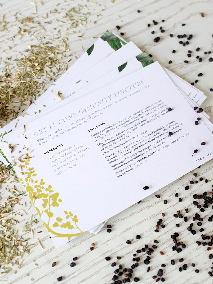 Herbal Recipe Cards - Herbal Academy Goods Shop