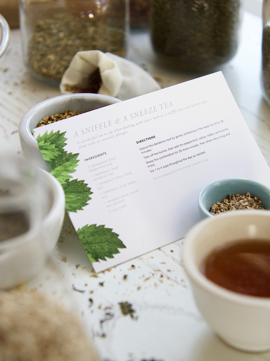 Herbal Recipe Cards by Herbal Academy