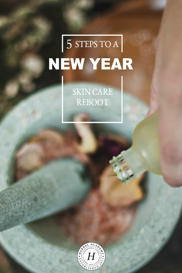 5 Steps To A New Year Skincare Reboot   Herbal Academy   Looking for healthier skin this year? Here are 5 tips to guide you in a New Year Skincare Reboot and demystify what steps a good skincare routine entails.