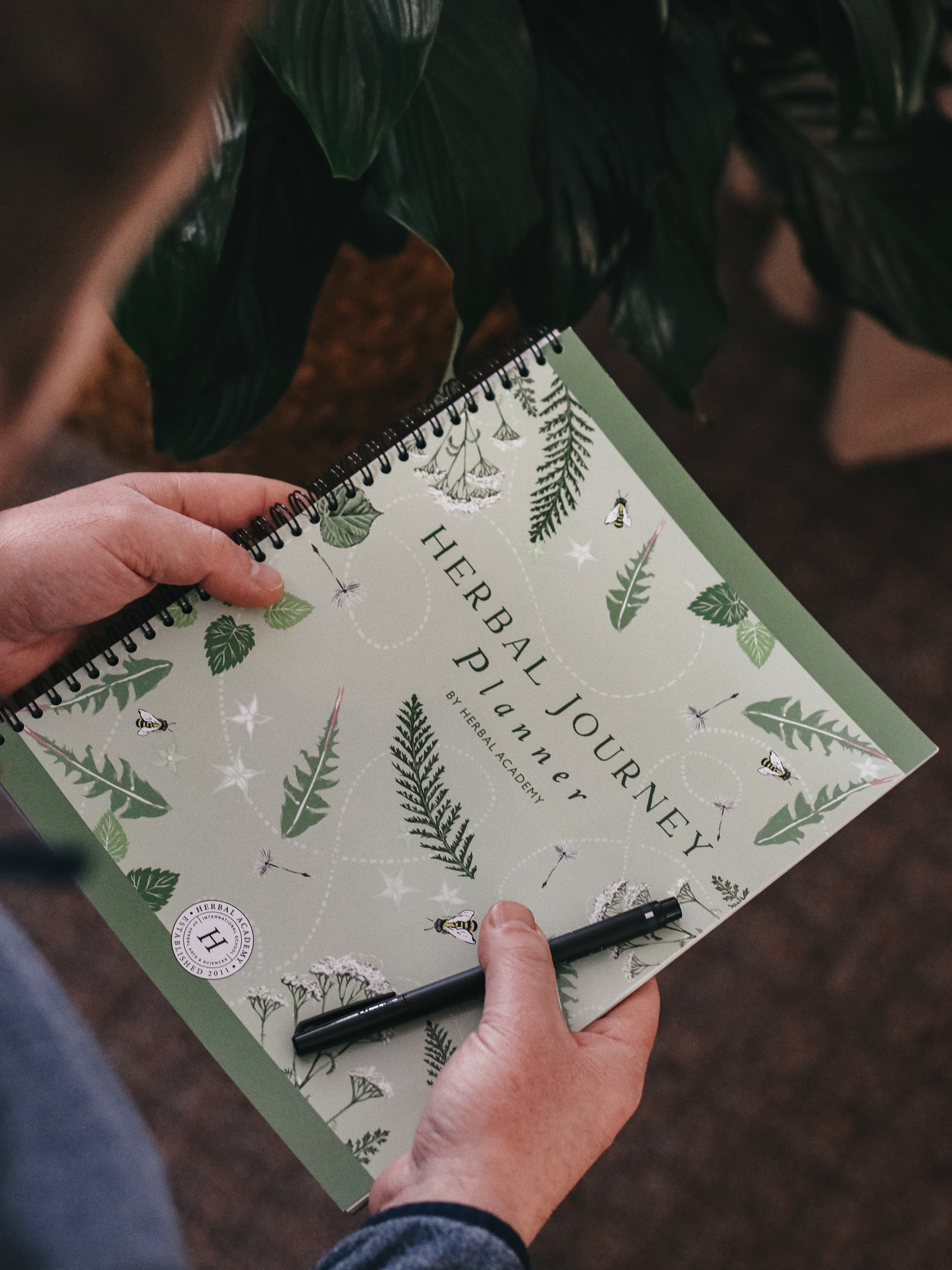 The Herbal Journey Planner from Becoming an Herbalist Course by Herbal Academy