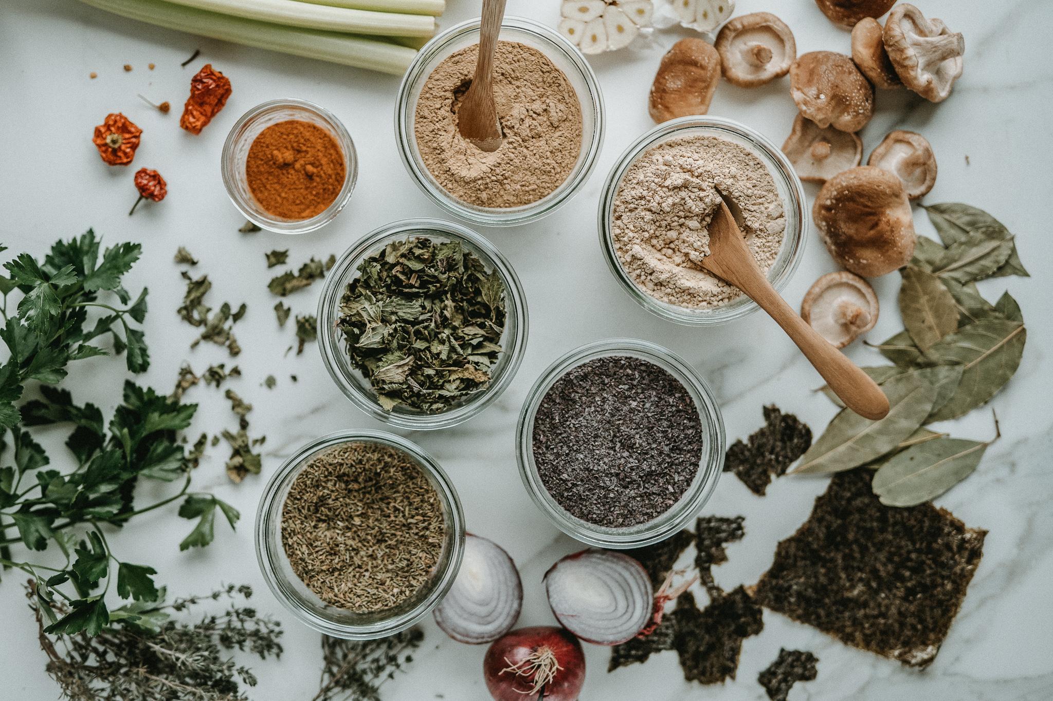 Cooking with herbs - nourishing herbal soup seasoning mix