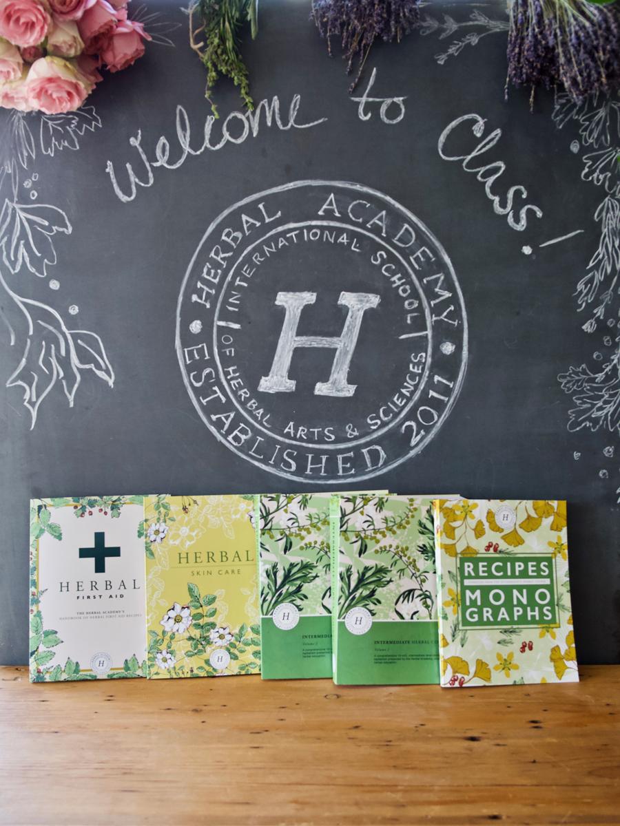 The Intermediate Herbalism Texbooks by Herbal Academy