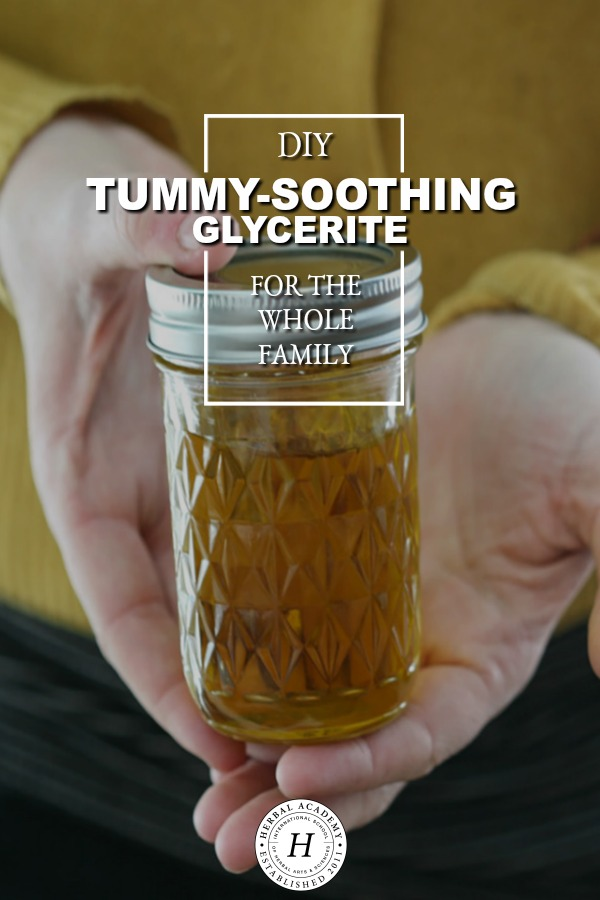 DIY Tummy-Soothing Glycerite for the Whole Family   Herbal Academy   If you find yourself suffering from stomach cramps, gas, pain, bloating, and general unease this tummy-soothing glycerite can come to your assistance!