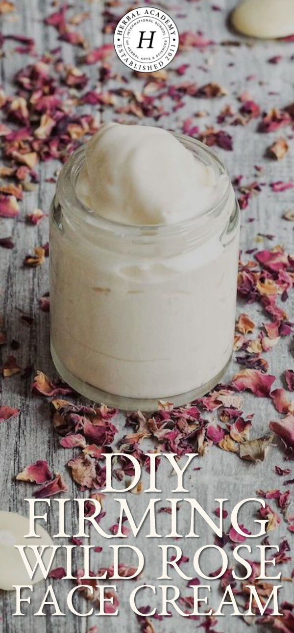 DIY Firming Wild Rose Undereye Cream  | Herbal Academy | Learn all about wild rose in this wild rose herbal monograph and get a recipe for a DIY firming wild rose undereye cream to try as well!