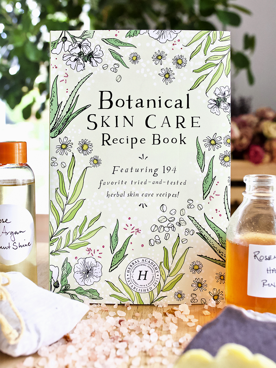 Botanical Skin Care Recipe Book Cover by Herbal Academy
