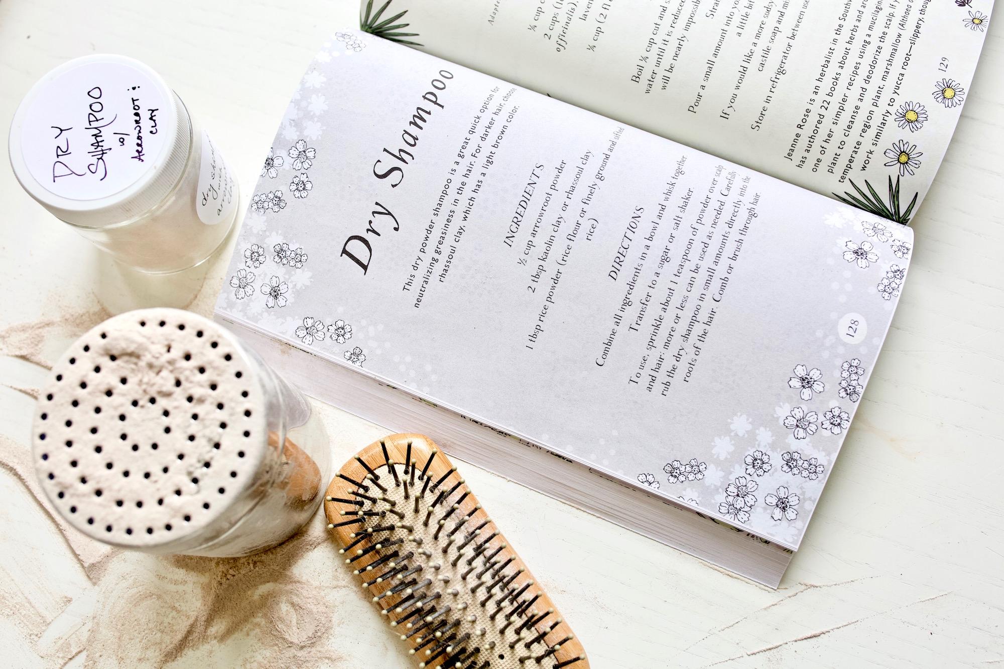 Dry Shampoo Recipe from the Botanical Skin Care Recipe Book