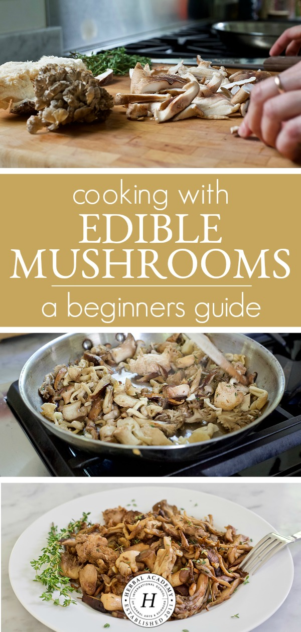 Cooking With Edible Mushrooms: A Beginner's Guide | Herbal Academy | Learn a few tricks of the trade in regards to cooking with edible mushrooms, and get some sample recipes to make to see how good mushrooms can be!