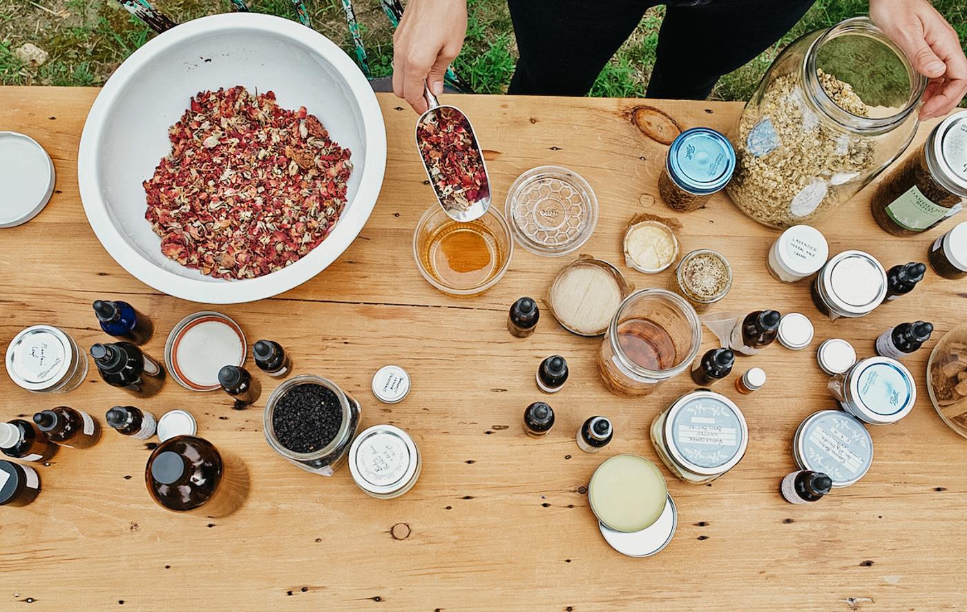 Making Herbal Preparations 101 Mini Course - Tabletop herbs