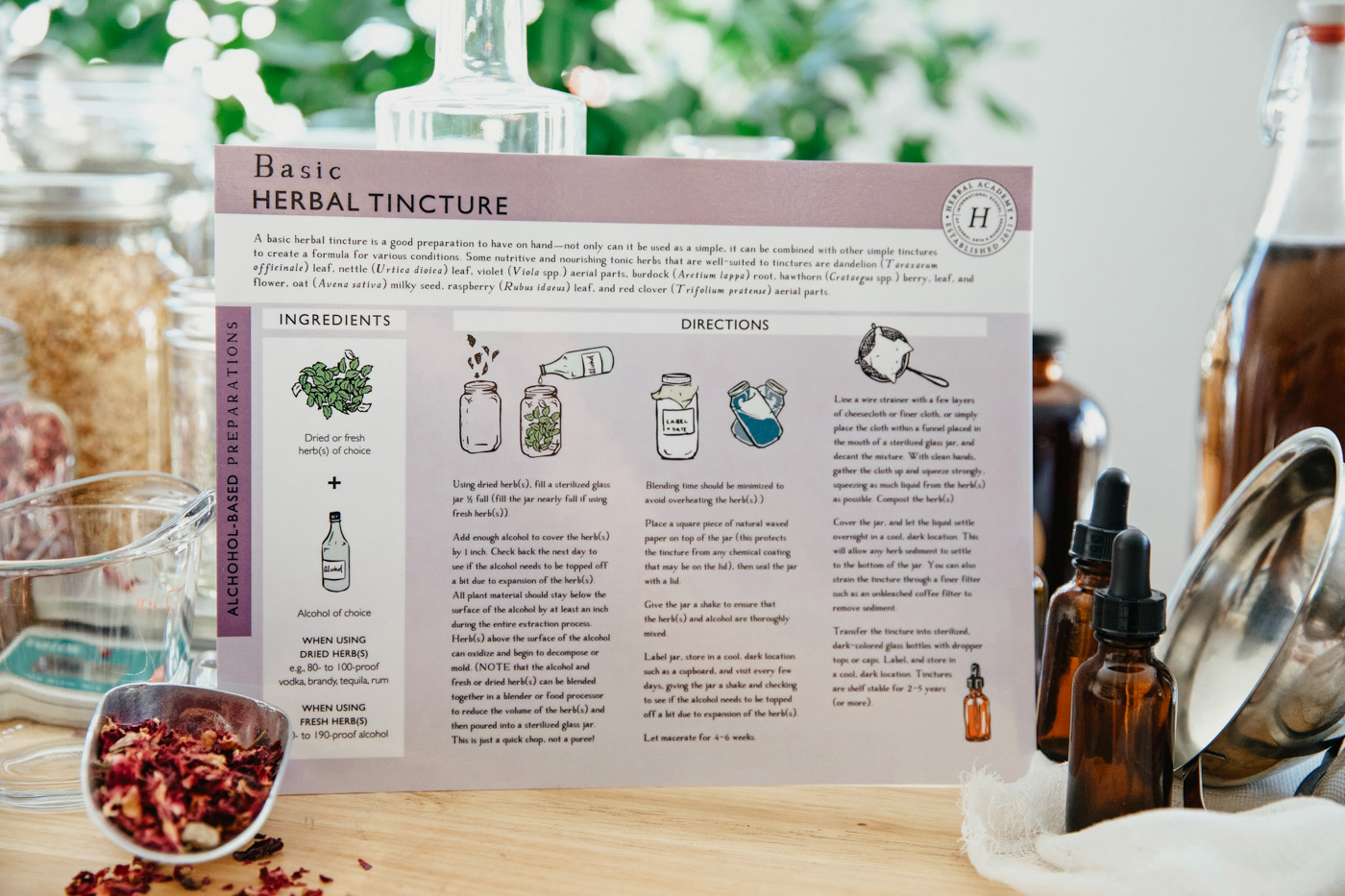 Herbal Academy -Making Herbal Preparations 101 Course guides