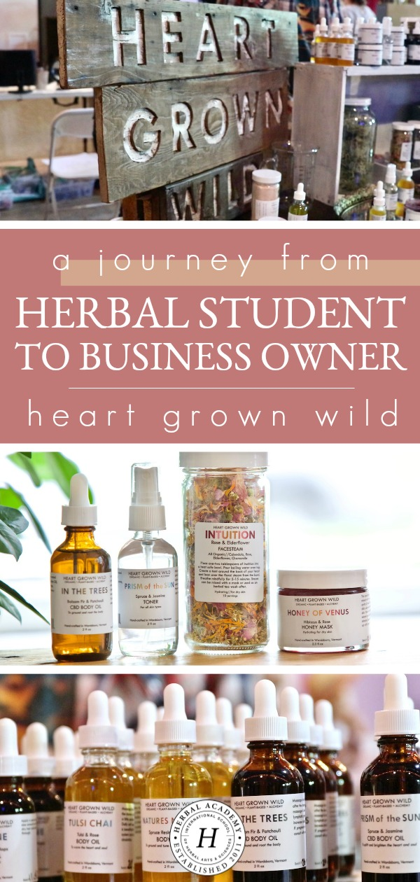 A Journey From Herbal Student To Business Owner: Heart Grown Wild | Herbal Academy | Get a behind the scenes glimpse at SantaLena Groves' journey from Herbal Academy herbal student to business owner of Heart Grown Wild!