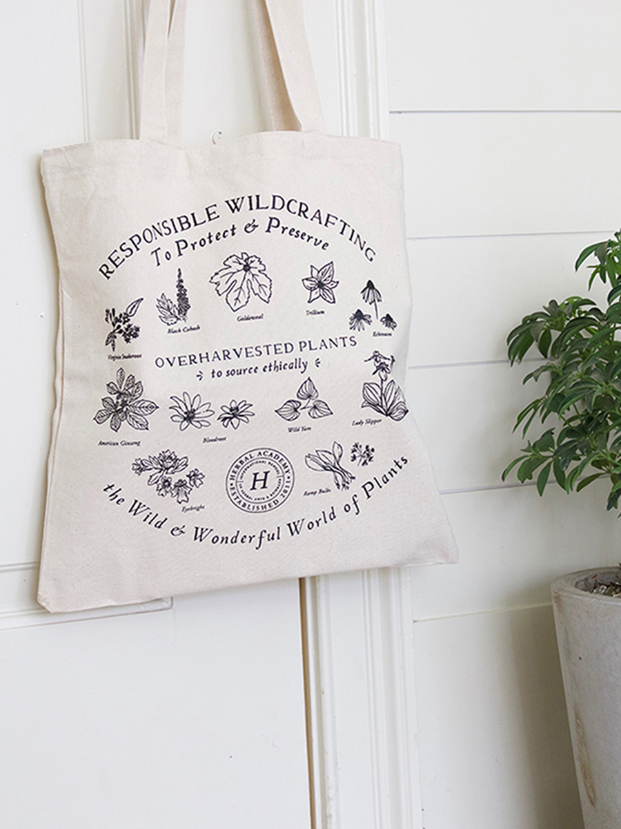 Our herbal tote bag is one of our favorite gifts for herbalists