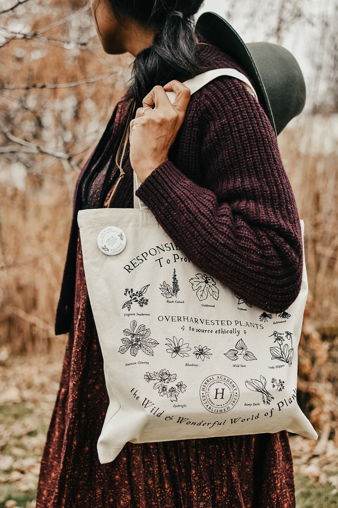 The Plant Steward Tote Bag by herbal academy