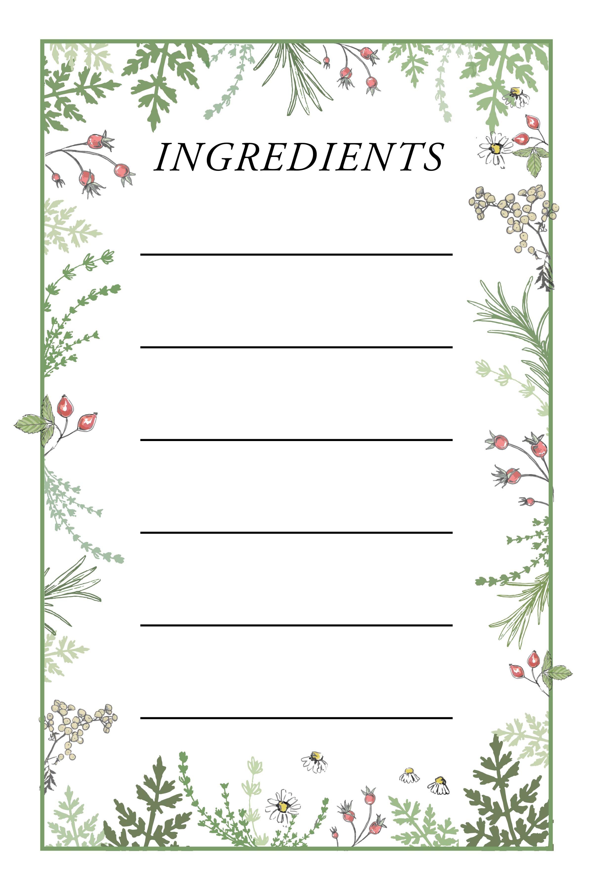 Herbal Tea Blend Label Greens verticals4