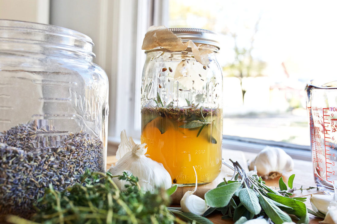 How to Make and Use the Legendary Four ThievesⓇ Vinegar Blend   Herbal Academy   Ever heard of the Four ThievesⓇ Vinegar blend? Come learn the folklore surrounding this blend, how it's used to support wellness, and how to make it.