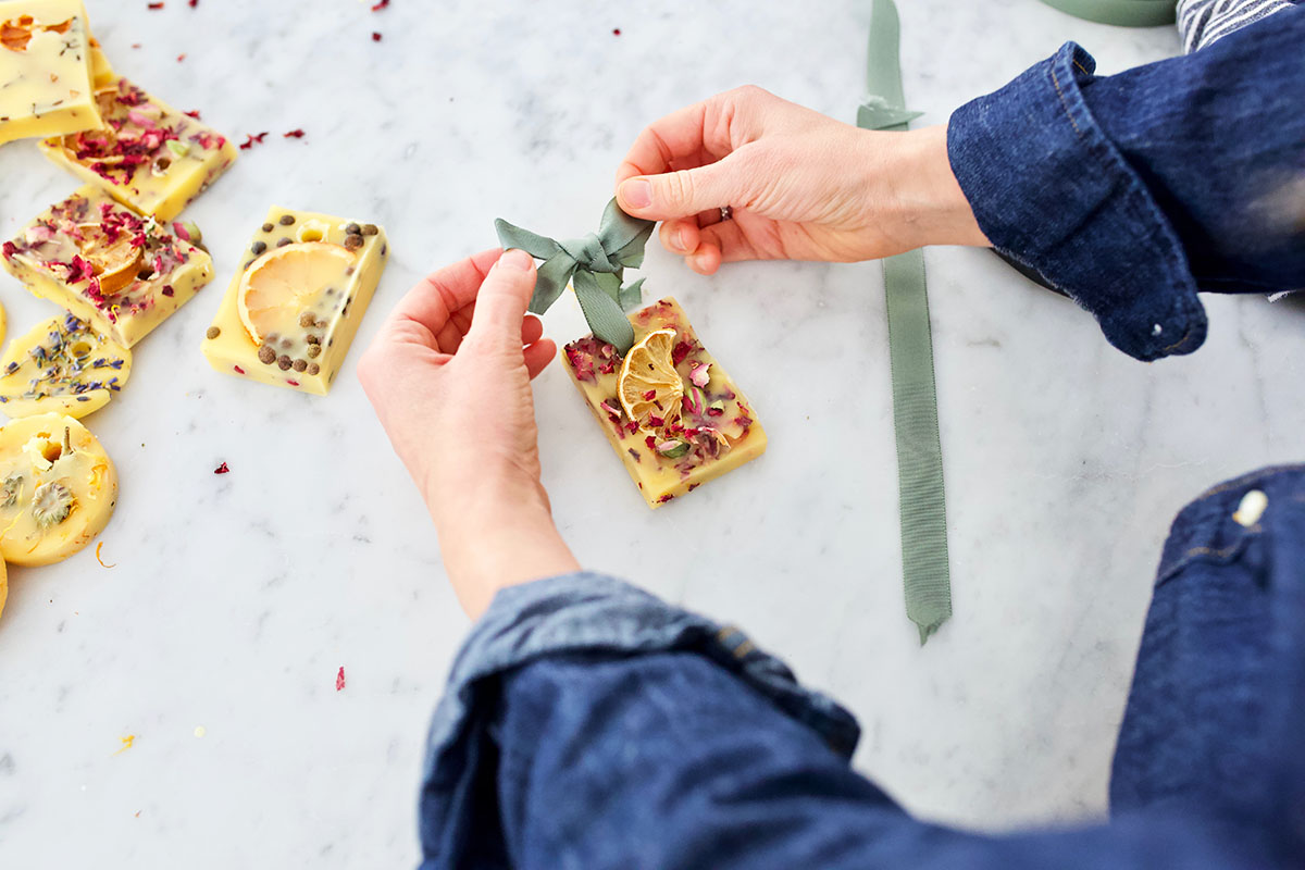 DIY Herbal Wax Sachets for the Home and Gifting   Herbal Academy   Learn to make DIY herbal wax sachets. These little treats will freshen the air without the use of chemicals and make the perfect herbal holiday gift!