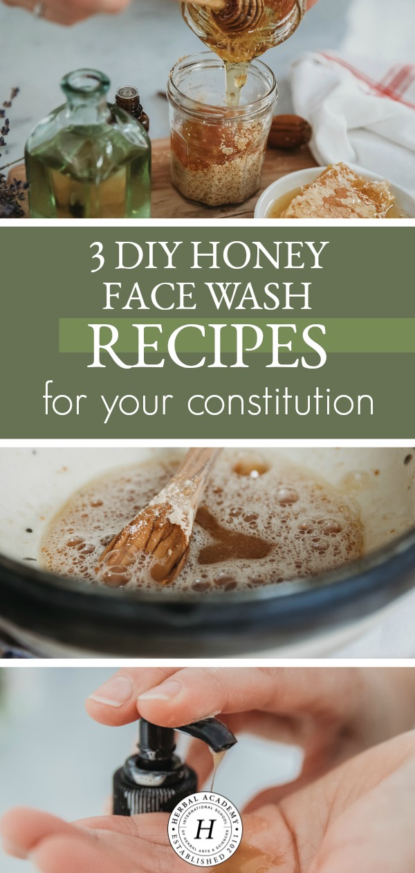 3 DIY Honey Face Wash Recipes For Your Constitution | Herbal Academy | Looking for a DIY face wash recipe? These 3 DIY honey face wash recipes are easy to make and great for your skin. Say goodbye to pre-made face cleansers!