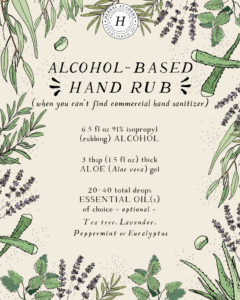 3 Alcohol-Based Hand Rub Recipes | Herbal Academy | Learn how to make 3 alcohol-based hand rub recipes based on CDC guidelines with simple ingredients you likely already have in your home!