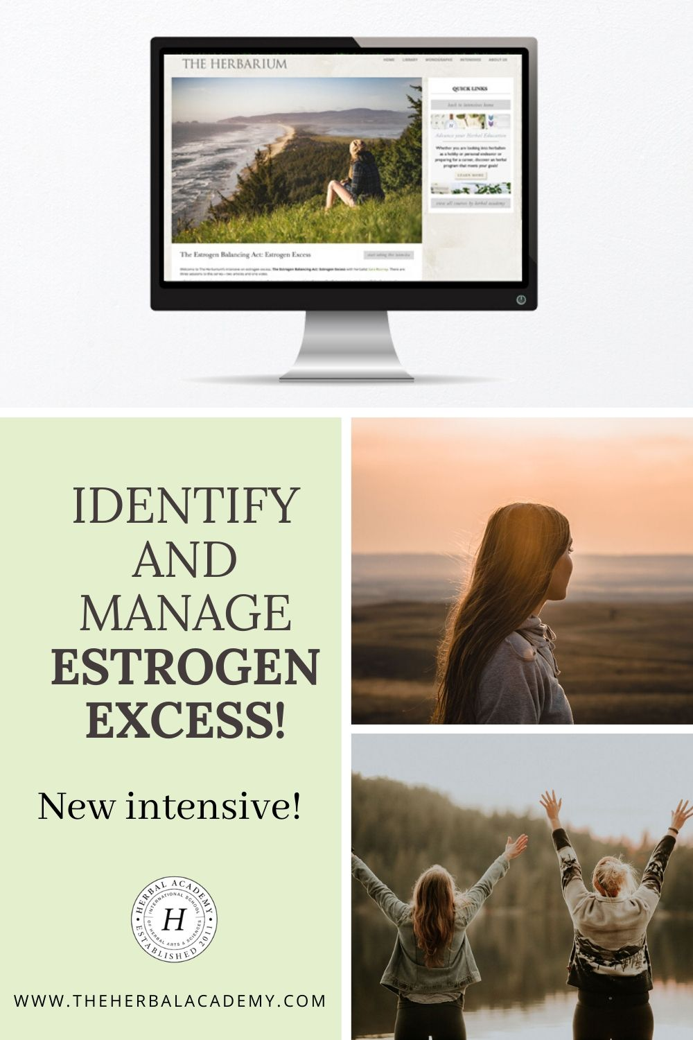 New Intensive! Identify and Manage Estrogen Excess   Herbal Academy   We've partnered with Sara Rooney, a medical herbalist specializing in hormonal imbalance, to release our newest Herbarium intensive about estrogen excess.