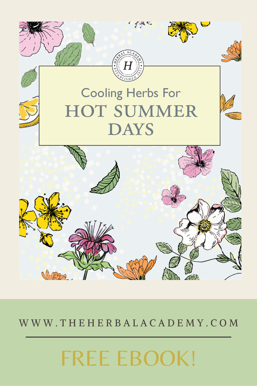 New eBook! Cooling Herbs for Hot Summer Days | Herbal Academy | Herbal Academy's free ebook features plant monographs and simple recipes for seven of the most widely available, cooling herbs of summer.