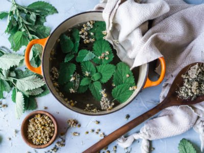 Try A Cooling Herbal Compress for Hot Summer Days   Herbal Academy   One way to keep the heat at bay while enjoying summer weather is to make a cooling herbal compress from herbs like peppermint, yarrow, and chamomile.