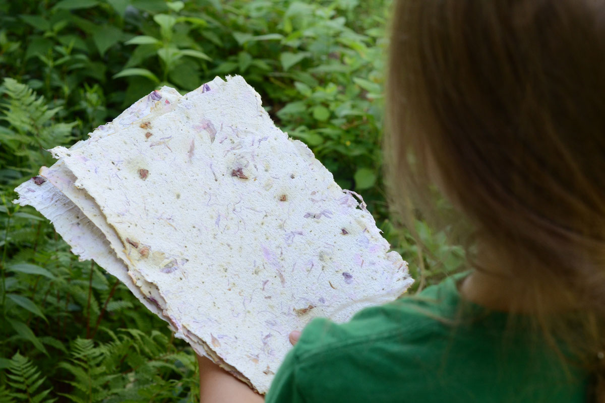 Handmade Floral Paper: A Family-Friendly Project | Herbal Academy | You can make your own floral paper and then use it to make the prettiest cards, bookmarks, and more. This activity is great for all ages!