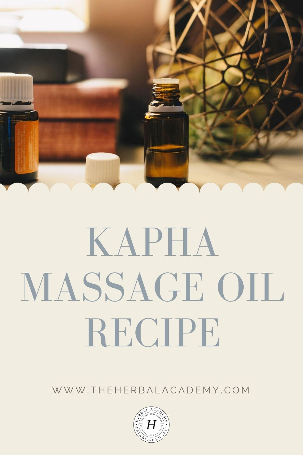 Kapha Massage Oil Recipe (Late Winter and Early Spring) | Herbal Academy | This kapha massage oil recipe features herbs and spices with a warming and invigorating energy, which makes it great for cold weather.