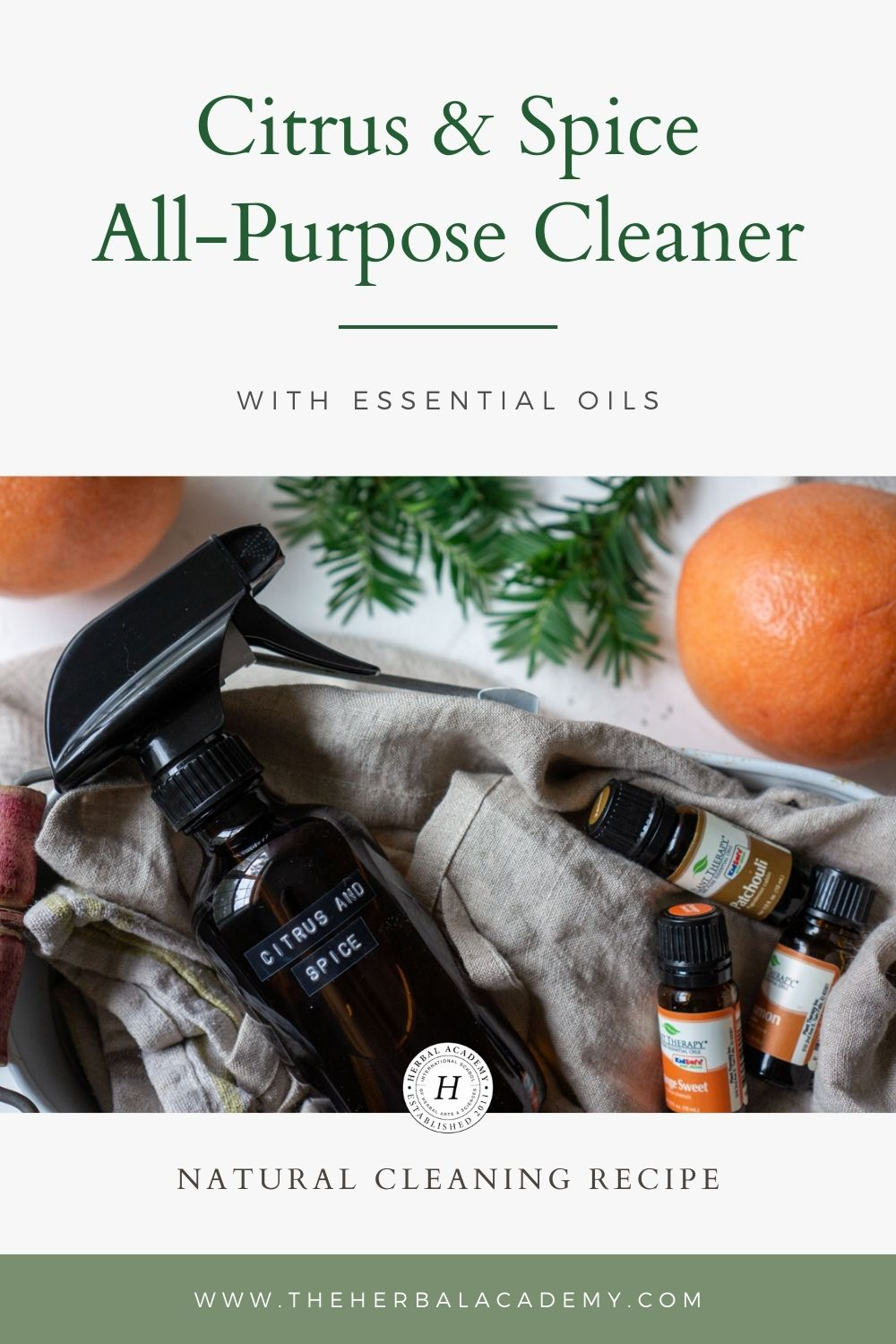 Citrus and Spice: DIY All-Purpose Cleaner | Herbal Academy | This Citrus and Spice DIY All-Purpose Cleaner recipes uses essential oils and is a wonderful option for cleaning most hard surfaces.